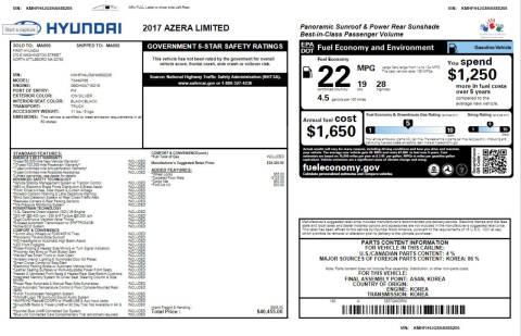 2017 Hyundai Azera for sale at Real Motors LLC in Clearwater FL