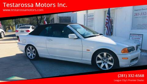 2001 BMW 3 Series for sale at Testarossa Motors Inc. in League City TX