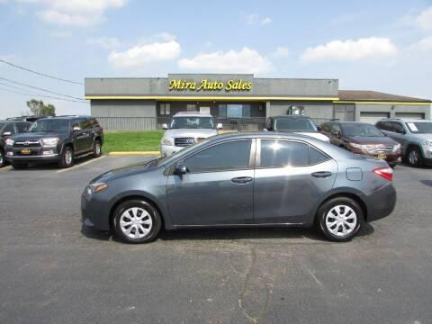 2015 Toyota Corolla for sale at MIRA AUTO SALES in Cincinnati OH