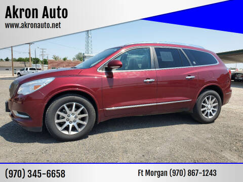 2015 Buick Enclave for sale at Akron Auto - Fort Morgan in Fort Morgan CO