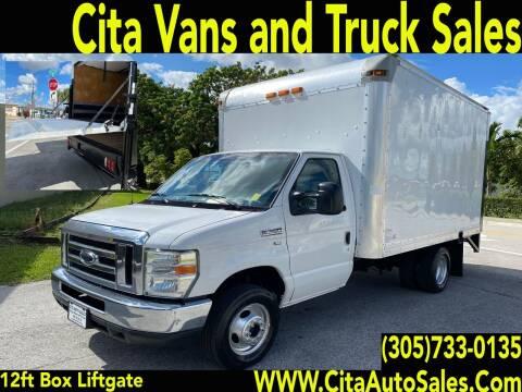 2012 FORD E350 SD 12 FT BOX TRUCK LIFTGATE for sale at Cita Auto Sales in Medley FL