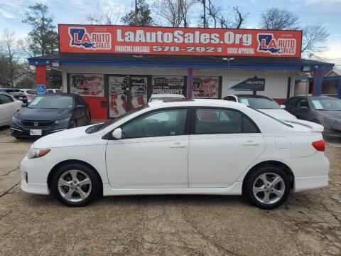 2012 Toyota Corolla for sale at LA Auto Sales in Monroe LA