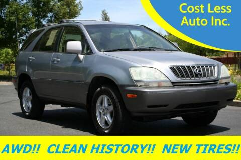 2001 Lexus RX 300 for sale at Cost Less Auto Inc. in Rocklin CA