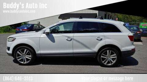 2012 Audi Q7 for sale at Buddy's Auto Inc in Pendleton SC