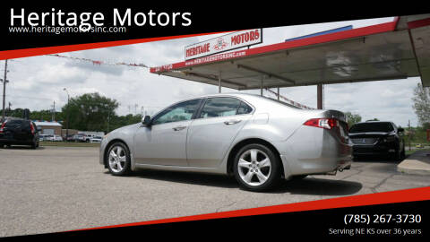 2009 Acura TSX for sale at Heritage Motors in Topeka KS