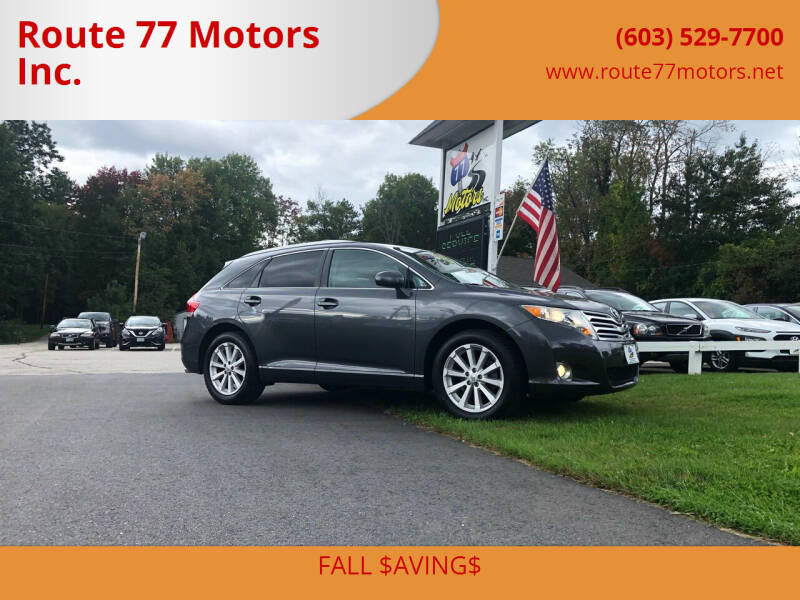 2011 Toyota Venza for sale at Route 77 Motors Inc. in Weare NH