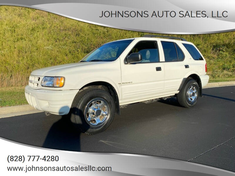 2001 Isuzu Rodeo for sale at Johnsons Auto Sales, LLC in Marshall NC