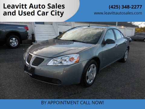 2008 Pontiac G6 for sale at Leavitt Auto Sales and Used Car City in Everett WA