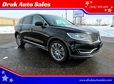 2016 Lincoln MKX for sale at Druk Auto Sales in Ramsey MN