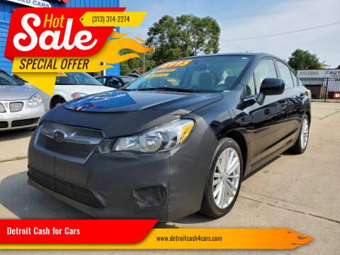 2012 Subaru Impreza for sale at Detroit Cash for Cars in Warren MI