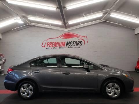 2013 Honda Civic for sale at Premium Motors in Villa Park IL