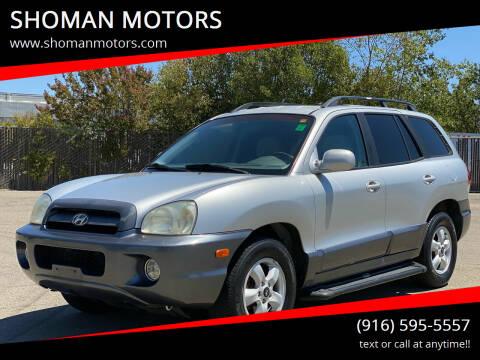 2006 Hyundai Santa Fe for sale at SHOMAN MOTORS in Davis CA