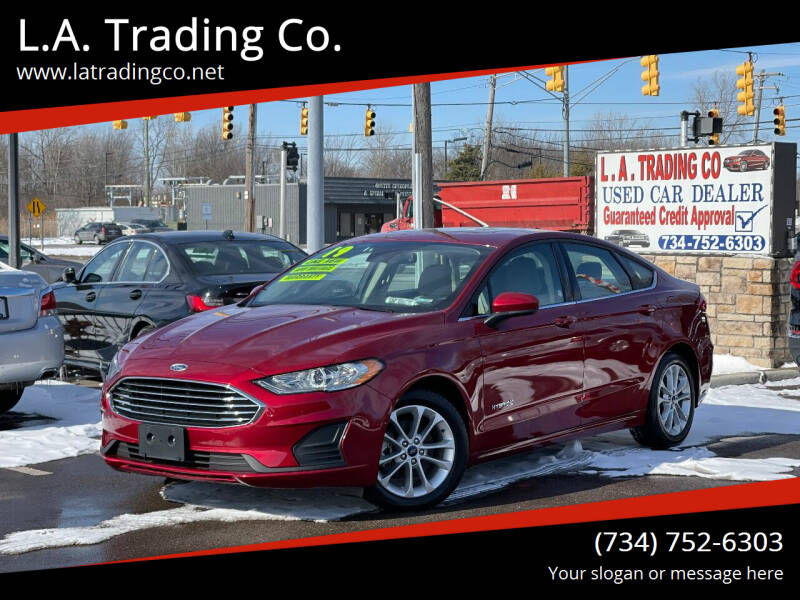 2019 Ford Fusion Hybrid for sale at L.A. Trading Co. in Woodhaven MI