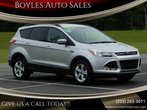 2015 Ford Escape for sale at Boyles Auto Sales in Jasper AL