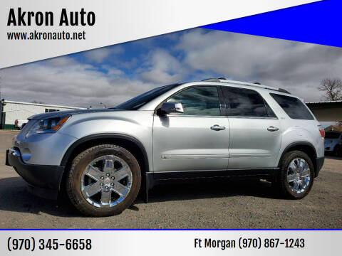 2010 GMC Acadia for sale at Akron Auto - Fort Morgan in Fort Morgan CO