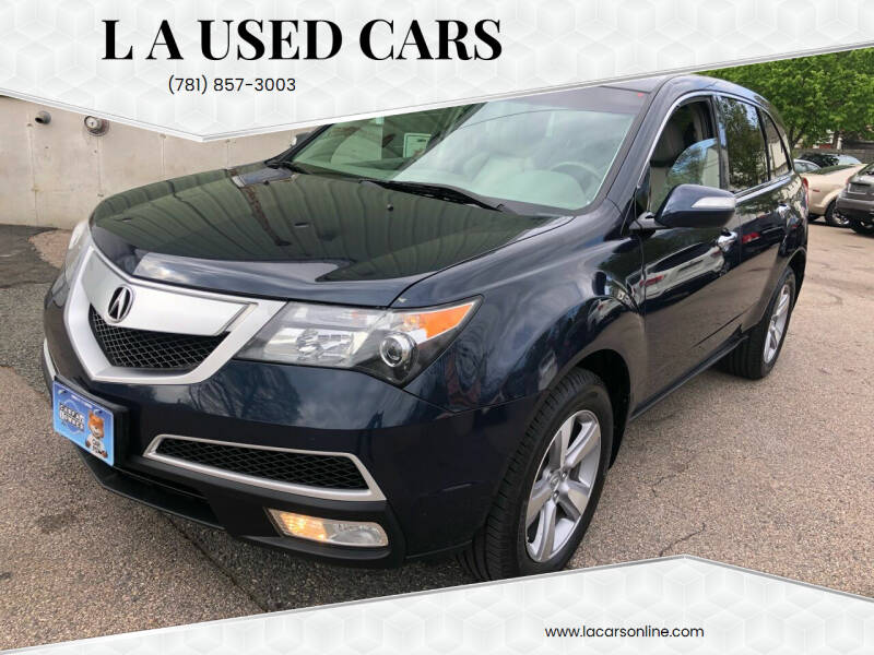2012 Acura MDX for sale at L A Used Cars in Abington MA