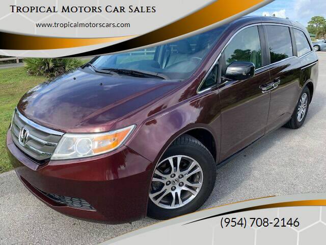 2011 Honda Odyssey for sale at Tropical Motors Car Sales in Deerfield Beach FL