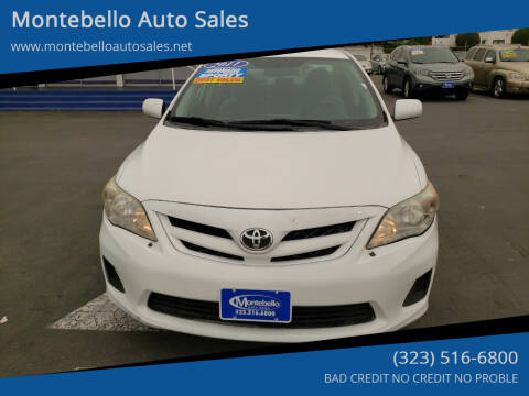 2011 Toyota Corolla for sale at Montebello Auto Sales in Montebello CA