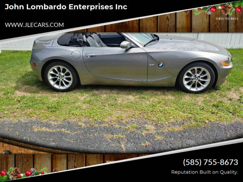 2003 BMW Z4 for sale at John Lombardo Enterprises Inc in Rochester NY