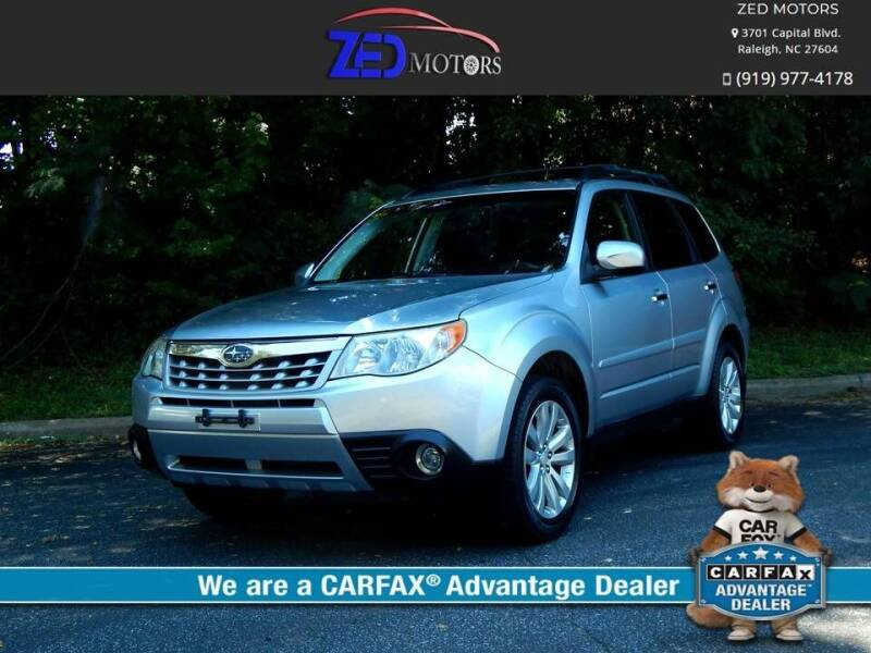 2013 Subaru Forester for sale at Zed Motors in Raleigh NC