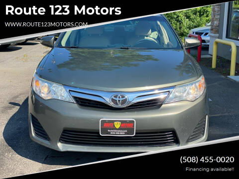 2012 Toyota Camry for sale at Route 123 Motors in Norton MA