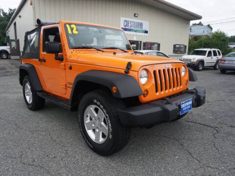 2012 Jeep Wrangler for sale at Crestwood Auto Sales in Swansea MA
