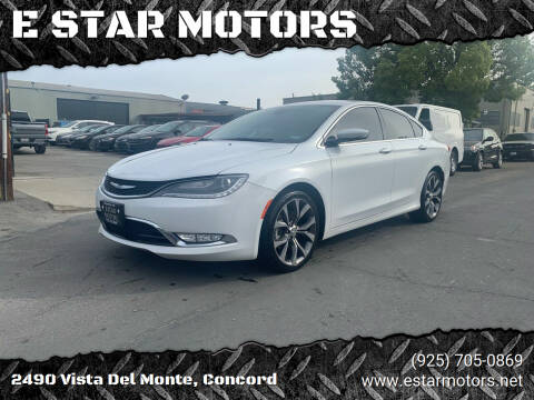 2015 Chrysler 200 for sale at E STAR MOTORS in Concord CA