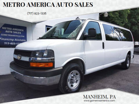 2017 Chevrolet Express Passenger for sale at METRO AMERICA AUTO SALES of Manheim in Manheim PA