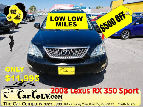 2008 Lexus RX 350 for sale at The Car Company in Las Vegas NV