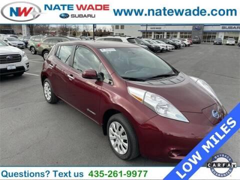 2016 Nissan LEAF for sale at NATE WADE SUBARU in Salt Lake City UT
