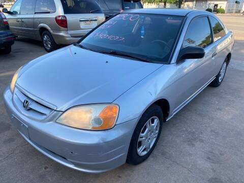 2001 Honda Civic for sale at Cash Car Outlet in Mckinney TX
