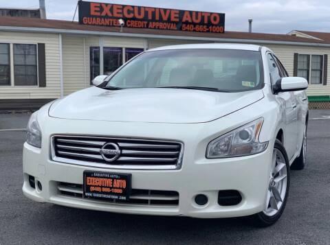 2014 Nissan Maxima for sale at Executive Auto in Winchester VA