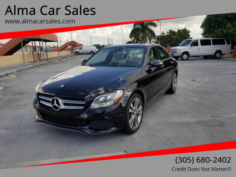 2016 Mercedes-Benz C-Class for sale at Alma Car Sales in Miami FL