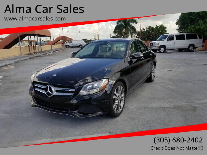 2016 Mercedes-Benz C-Class for sale at Alma Car Sales in Miami FL