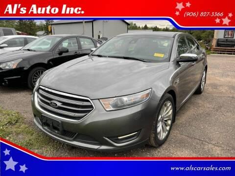 2014 Ford Taurus for sale at Al's Auto Inc. in Bruce Crossing MI