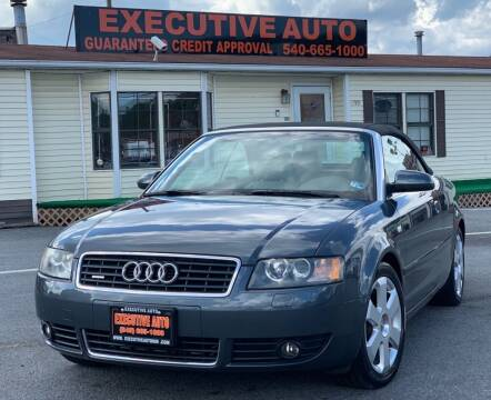 2005 Audi A4 for sale at Executive Auto in Winchester VA