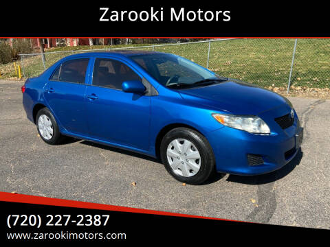 2010 Toyota Corolla for sale at Zarooki Motors in Englewood CO