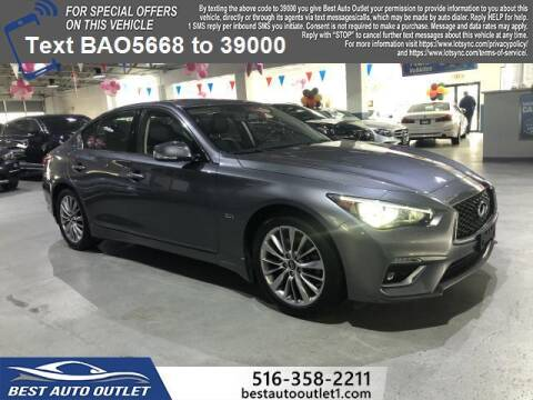 2018 Infiniti Q50 for sale at Best Auto Outlet in Floral Park NY
