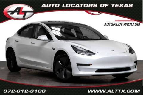 2018 Tesla Model 3 for sale at AUTO LOCATORS OF TEXAS in Plano TX