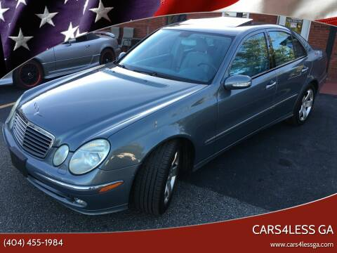 2004 Mercedes-Benz E-Class for sale at Cars4Less GA in Alpharetta GA