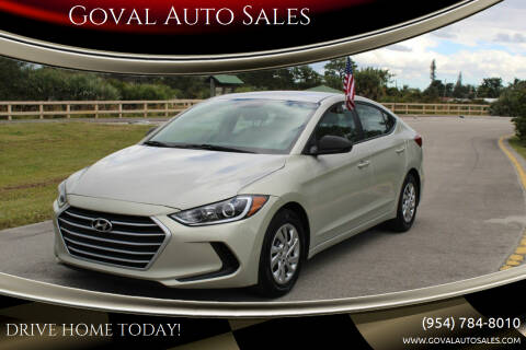 2017 Hyundai Elantra for sale at Goval Auto Sales in Pompano Beach FL