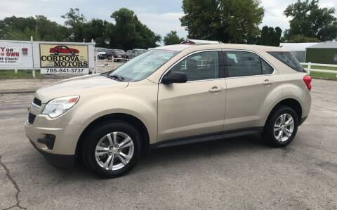 2012 Chevrolet Equinox for sale at Cordova Motors in Lawrence KS