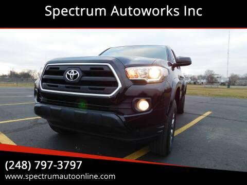 2017 Toyota Tacoma for sale at Spectrum Autoworks Inc in Oak Park MI