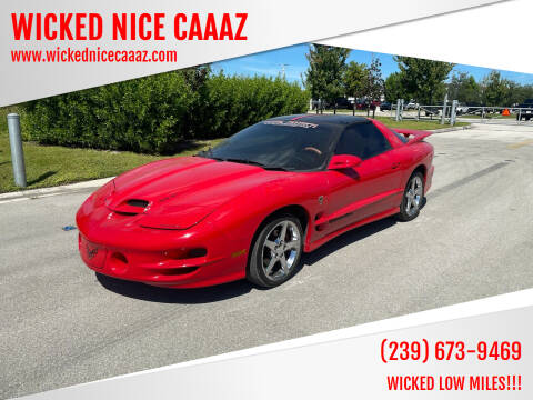2002 Pontiac Firebird for sale at WICKED NICE CAAAZ in Cape Coral FL