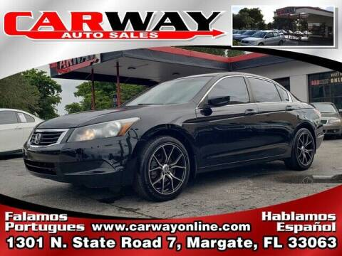 2010 Honda Accord for sale at CARWAY Auto Sales in Margate FL