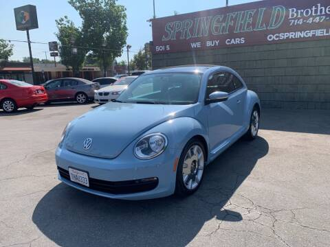 2012 Volkswagen Beetle for sale at SPRINGFIELD BROTHERS LLC in Fullerton CA