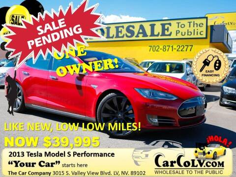 2013 Tesla Model S for sale at The Car Company in Las Vegas NV