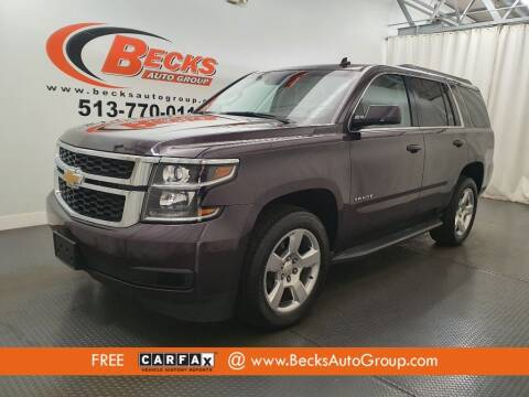 2015 Chevrolet Tahoe for sale at Becks Auto Group in Mason OH