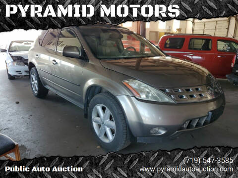 2004 Nissan Murano for sale at PYRAMID MOTORS - Pueblo Lot in Pueblo CO