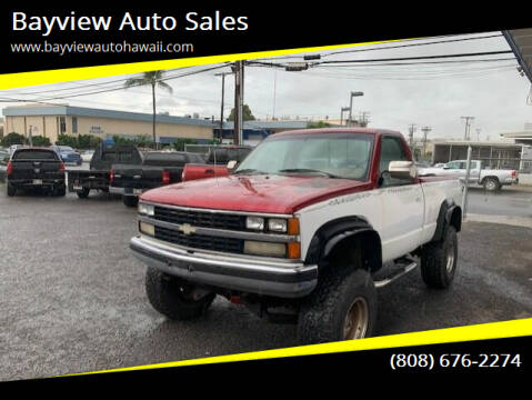 1988 Chevrolet C/K 1500 Series for sale at Bayview Auto Sales in Waipahu HI